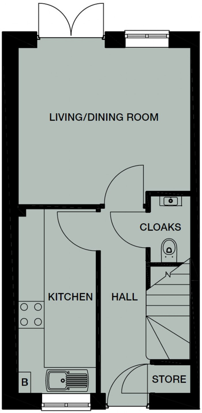 Floorplans For The Tatton, Windermere Road, Middleton, M24 4LB, Manchester