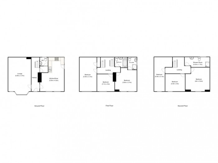 Floorplans For Great Clowes Street, Salford, M7 2FZ