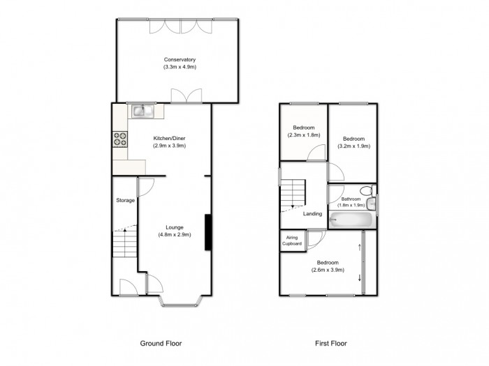 Floorplans For St. Margarets Close, Prestwich, Manchester, M25 2LY