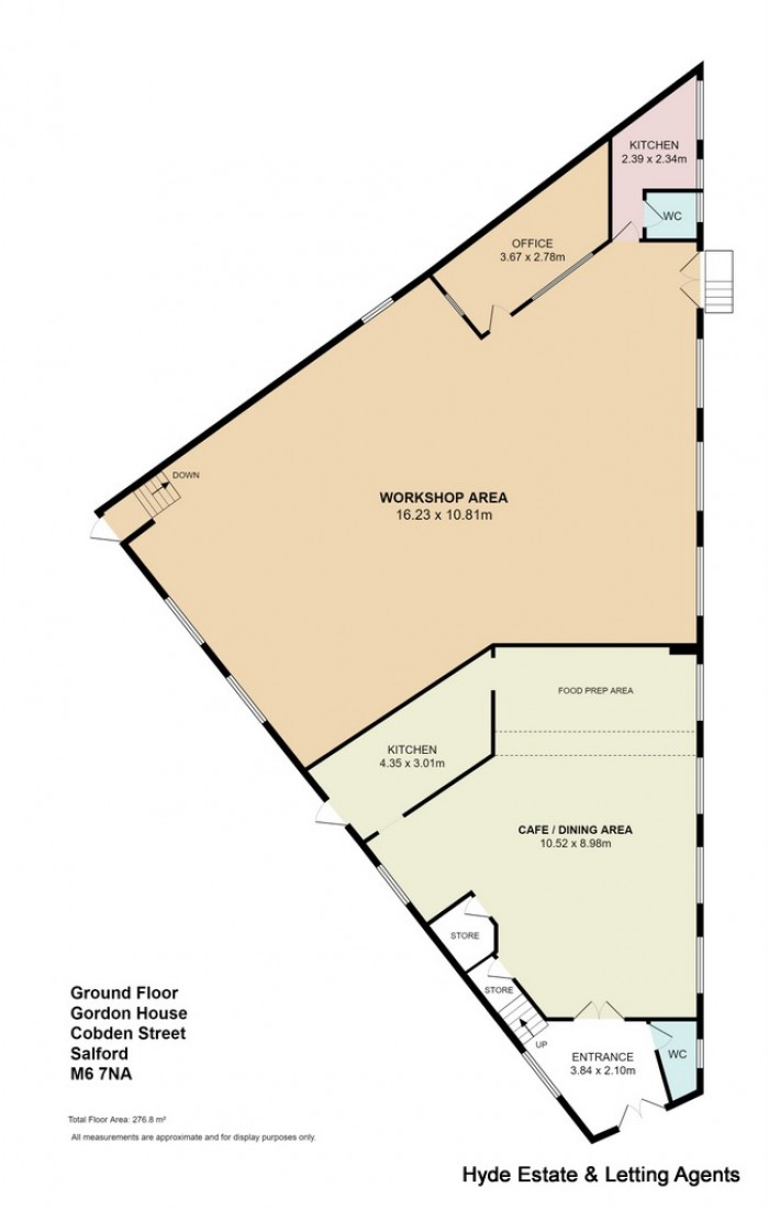 Floorplans For Cobden Street, Salford, M6 6NA